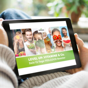 Coverbild vom Online-Kurs LEVEL UP: Vitamine & Co. - Dein 12-Tage FEELGOOD Booster